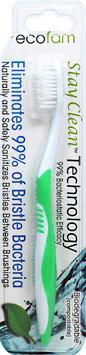 EcoFam - Anti-Bacterial Silver Toothbrush Green