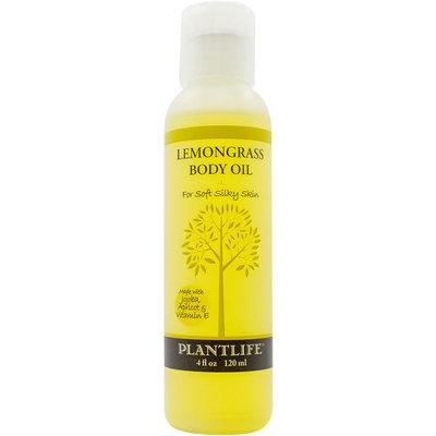 Plantlife Natural Body Care - Body Oil For Soft Silky Skin Lemongrass - 4 oz.