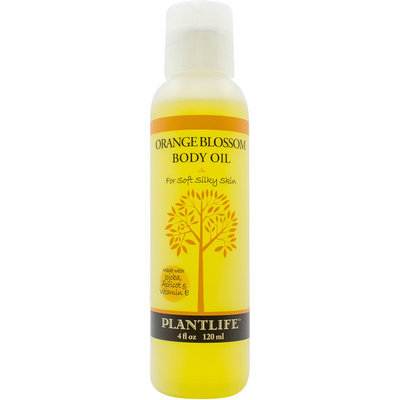 Plantlife Natural Body Care - Body Oil For Soft Silky Skin Orange Blossom - 4 oz.