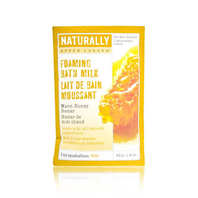 Upper Canada Naturally Warm Honey Nectar Foaming Bath Milk