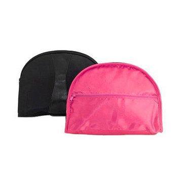 Danielle Blacktie Beauty Bags Reversible Oval Travel Case No. D8006