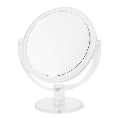 Upper Canada Soap And Candle Co Round Vanity 12x Magnifying Mirror-SILVER-One Size