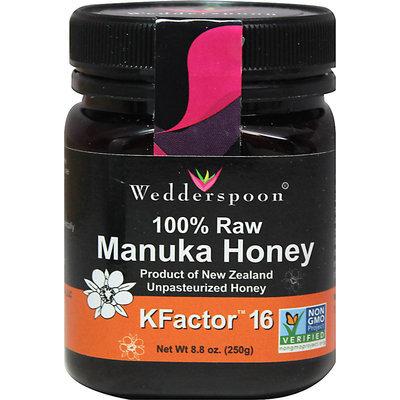 Wedderspoon 100% Raw Premium Manuka Honey Active 16+ - 6Oz