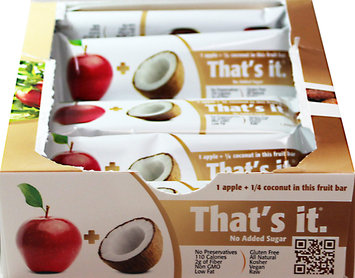 That's It Nutrition Thats It Nutrition 7590010 Bar Apple Coconut 12 Per Box