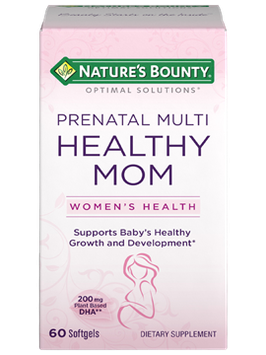 Natures Bounty Optimal Solutions Healthy Mom Prenatal Multi Softgels