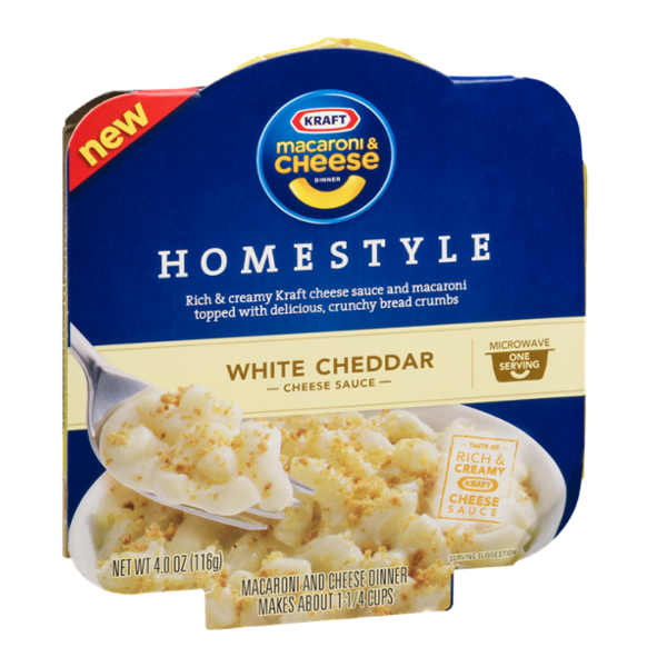Kraft Macaroni & Cheese Homestyle White Cheddar Microwave