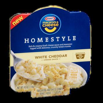 Kraft Macaroni & Cheese Homestyle White Cheddar Microwave