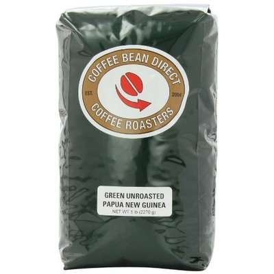 Coffee Bean Direct Green Unroasted Paupa New Guinea, Whole Bean Coffee, 5-Pound Bag