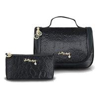 Jacki Design Bella Rosa 2 Piece Cosmetic Bag Blue - Jacki Design Ladies Cosmetic Bags