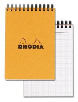 Rhodia #13 Wirebound Notepad 4 x 6 Graph Ruling, Orange Cover