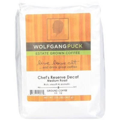 Wolfgang Puck Coffee Chef's Reserve Decaf Ground Bulk Coffee, 2-Pounds