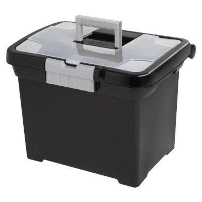 Sterilite Medium Letter File Box - Black