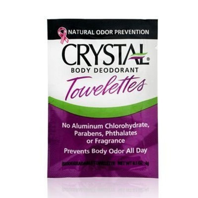 Crystal Deodorant Solo Towlettes (48 Count) 0.10 Ounces