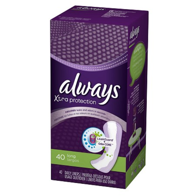 Always Clean Weave Pantyliners