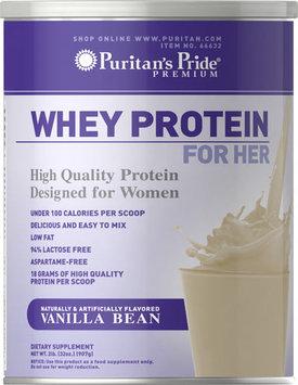 Puritan's Pride 2 Units of Whey Protein for Her Vanilla Bean-1 lb -Vanilla Bean-Powder