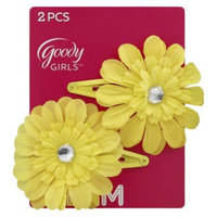 Goody Girls' Daisy Hair Clips 2Ct - Yellow