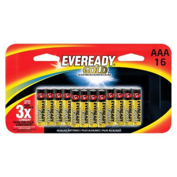 Eveready Gold AAA Batteries 16 count