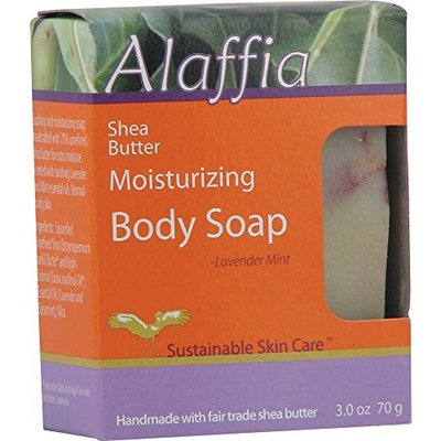 Alaffia Shea Butter Moisturizing Body Soap, Lavender Mint, 3 oz