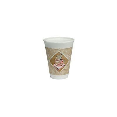 Dart White Foam Cup 12oz -1000 EA- 12X12G