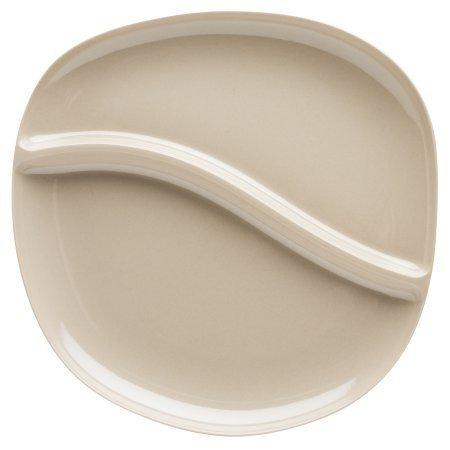 Zak Designs Moso 11-inch Bamboo Divided Dinner Plate - Rye