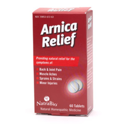 NatraBio Arnica Relief Tablets