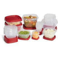 Rubbermaid Easy Find Lids 34-Piece Food Storage Set, Racer Red