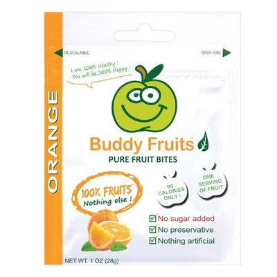 Buddy Fruits Orange Pure Fruit Bites, 1-Ounce (Pack of 18)