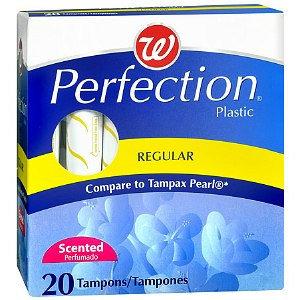 Walgreens Perfection Tampons Plastic Applicator