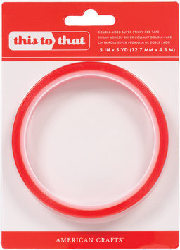 American Crafts This To That Double Sided Super Sticky Red Tape .5