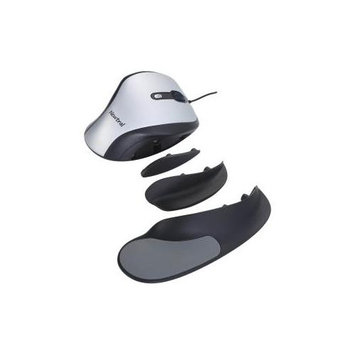 Keyovation, Llc Goldtouch Ergonomic Newtral Medium Mouse Wired- Silver/Black