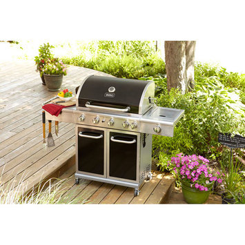 Better Home & Gardens Better Homes and Gardens 5-Burner Gas Grill with Side Burner, Black