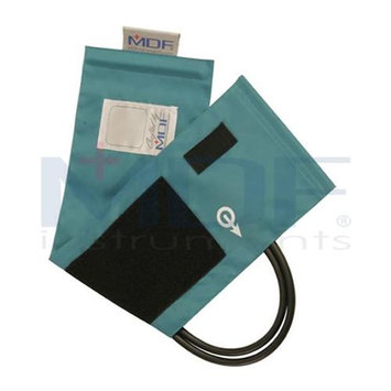 MDF Instruments MDF210045014 Latex-Free Replacement Blood Pressure Cuff - Adult - Double Tube -Pastel Blue