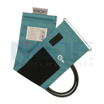 MDF Instruments MDF2100450D11 Latex-Free Replacement Blood Pressure Cuff - Adult D-Ring - Double Tube -Black