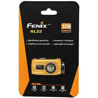 Fenix HL22 120 Lumens LED Waterproof Headlamp Torch Flashlight (Orange)