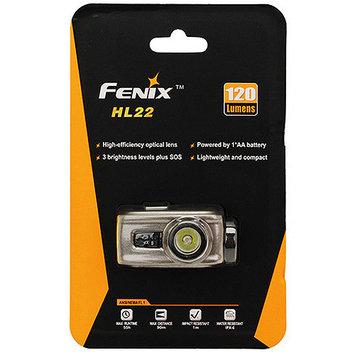 Fenix HL22 120 Lumens LED Waterproof Headlamp Torch Flashlight (Grey)