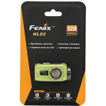 Fenix HL22 120 Lumens LED Waterproof Headlamp Torch Flashlight (Green)