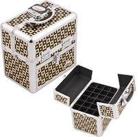 Just Case Usa Inc. Aluminum Cosmetic Makeup Nail Case Color: Black/Gold