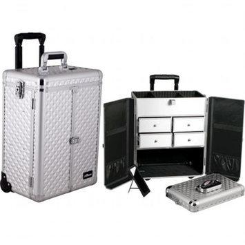 Sunrise Books Sunrise E6305DMSL Silver Diamond Split Drawer Textured Case
