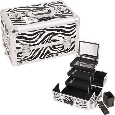 Sunrise E3305ZBWH Zebra White Pro Makeup Case
