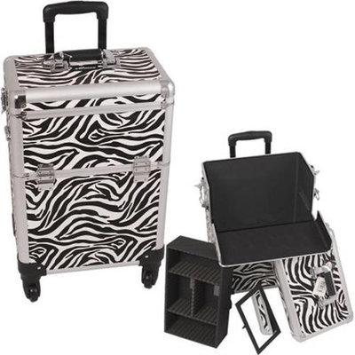 Sunrise E6301ZBWH Zebra White 4-Wheels Case