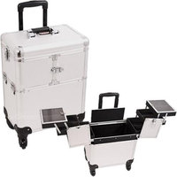 Just Case Usa Inc. Sunrise E6304DTSL Silver Dot Rolling Beauty Case