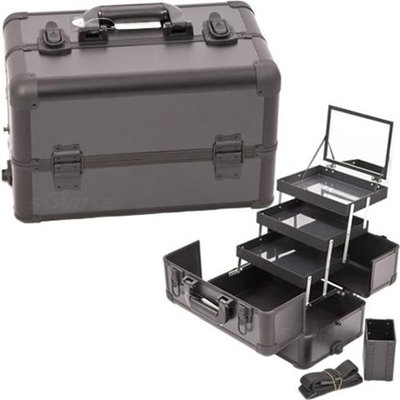 Just Case Usa Inc. Sunrise All Black Professional Aluminum Makeup Case