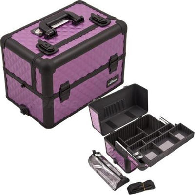 Just Case Usa Inc. Sunrise E3307DMPLB Purple, Black Diamond Pro Makeup Case