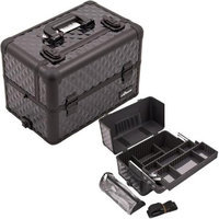 Just Case Usa Inc. Sunrise E3307DMAB All Black Diamond Pro Makeup Case