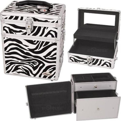 Just Case Usa Inc. Sunrise C3010ZBWH Zebra Cosmetic Case Pu