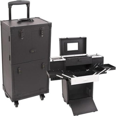 Just Case Usa Inc. Sunrise Black 29-inch Rolling Makeup Case