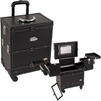 Just Case Usa Inc. Sunrise C6014PUAB Black Leather Rolling Case