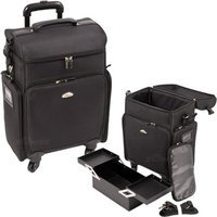 Just Case Usa Inc. Sunrise All Black Professional Carry-on Rolling Makeup Case