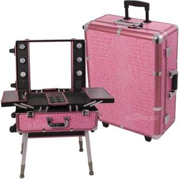 Sunrise Books Sunrise C6010CRPK Pink Crocodile Studio Case With Light