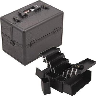 Sunrise C3000STAB 3 Tiers Black Pro Makeup Case